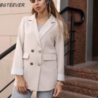 Повседневный двубортный женский пиджак с отложным воротником, весенний Женский блейзер, осенняя женская верхняя одежда, элегантное дамско... - Женские пиджаки