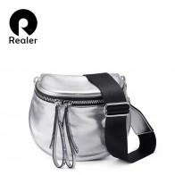 1838.02 руб. 50% СКИДКА|Realer дамская кроссбоди сумка, Модный бренд женская сумочка из искусственной кожи, сумка на плечо для женщин купить на AliExpress