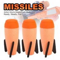 2Pcs Missile For Nerf Soft Missile for NERF N-Strike Modulus Missile Blaster with Elite Missile for Kids Children Gift