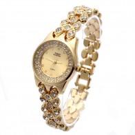 888.85 руб. 9% СКИДКА|Новинка 2018 г. G & D для женщин золото одной цепи нержавеющая сталь Группа горный хрусталь Роскошные Кварцевые часы браслет аналог-in Женские часы-браслет from Ручные часы on Aliexpress.com | Alibaba Group