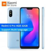 10058.03 руб. |Xiaomi Redmi 6 Pro 4 Гб 32 мобильный телефон Snapdragon 625 Octa Core 5,84