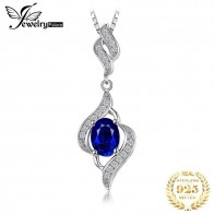 US $14.99 45% OFF|JewelryPalace Silver Pendant Necklace Women 1.95ct Created Blue Sapphire Wedding Fine Jewelry Not Include A Chain-in Necklaces from Jewelry & Accessories on Aliexpress.com | Alibaba Group