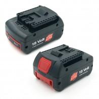 5501.97 руб. 21% СКИДКА|2 шт 5000 мАч 18 В литиевых Перезаряжаемые Батарея для Bosch дрель BAT609 BAT618 3601H61S10 JSH180 Bosch 18 V LI Мощность инструменты купить на AliExpress