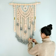 €24.81 45% de DESCUENTO|Colgante de pared tejido Macrame atrapasueños colgante de pared grande sobre la cama decoración de pared neutra Boho decoración del hogar colgante de pared-in Tapicería from Hogar y Mascotas on AliExpress - 11.11_Double 11_Singles