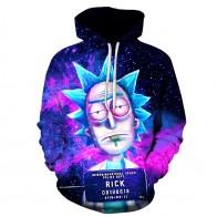 US $14.16 41% OFF|2018 New Custom 3D Sweatshirts Hip Hop Men/Women Hat Funny Print Rick Morty Crazy Scientist Winter Loose Thin Hooded Hoody Tops-in Hoodies & Sweatshirts from Men