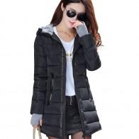 1469.55 руб. 64% СКИДКА|2019 Женское зимнее теплое пальто с капюшоном тонкий плюс размер карамельный цвет Хлопковая стеганая Базовая куртка Женская средней длины jaqueta feminina купить на AliExpress