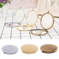 Портативное складное зеркало, компактное мини-зеркало из нержавеющей стали, металлическое косметическое карманное зеркало для макияжа, зе... - Аксессуары до 300 руб