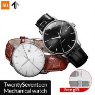 4528.95 руб. 25% СКИДКА|Оригинальные механические часы xiaomi mijia TwentySeventeen с кожаным ремешком с сапфировой поверхностью полностью автоматическое механическое движение-in Смарт-часы from Бытовая электроника on Aliexpress.com | Alibaba Group