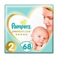 Подгузники PAMPERS Premium Care р2 4-8кг 68 шт ‣ Купить НЕДОРОГО на EVA.ua | Киев и Украина