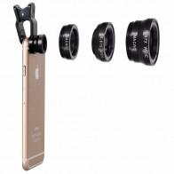 Объектив для мобильного телефона 3в1 комплект универсальный зажим для смартфона Объективы для фотоаппаратов широкоугольный Макро Рыбий глаз для IPhone 7 6 смартфон samsung купить на AliExpress