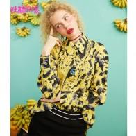 2198.43 руб. 25% СКИДКА|Женские рубашки большого размера ELF SACK, желтая повседневная женския блузка с полностью отложным воротником, дамские рубашки с леопардовым принтом, уличные топы для весны и лета, 2019-in Блузки и рубашки from Женская одежда on Aliexpress.com | Alibaba Group