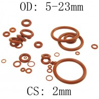 2mm Thickness Silicon Rubber O-ring Sealing 5-23mm OD Red Heat Resistance O Ring Seals Gaskets