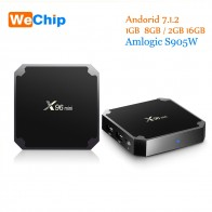 1404.28 руб. 32% СКИДКА|Wechip Amlogic S905W X96 Мини ТВ приставка на базе Android Box 1G/8G 2G/16G Android 7.1.2 четырехъядерный поддержка 4 K медиаплеер x96mini набор верхней коробки-in ТВ-приставки from Бытовая электроника on Aliexpress.com | Alibaba Group