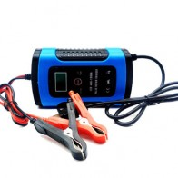 Enusic™ 12V 6A Blue Pulse Repair LCD Battery Charger For Car Motorcycle Lead Acid Battery Agm Gel Wet