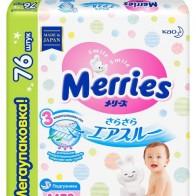 Купить Merries подгузники M (6-11 кг) 76 шт. по низкой цене с доставкой из маркетплейса Беру
