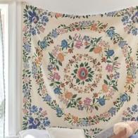 Хиппи с цветочным принтом, мандалой гобелен, мандала, индийский богемный декор, настенный цветочный гобелен, Настенная ткань, Boho Wall Carpe - Гобелены с Алиэкспресс