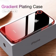 US $3.19 36% OFF|CAFELE Gradient Plating Case for iPhone Xr XS XS Max XSMax Cover Transparent Silicone Cover Luxury Aurora Soft TPU Phone Case-in Fitted Cases from Cellphones & Telecommunications on Aliexpress.com | Alibaba Group