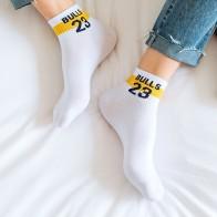 Для мужчин носки до лодыжки быков 23 хлопок Иордания короткие носки Прохладный Смешные письмо номер Повседневное носки подарок для человека Невидимый Для женщин носки носки купить на AliExpress