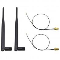 192.87 руб. 27% СКИДКА|2 x 6dBi RP SMA ГГц 5 двухдиапазонный Wi Fi 2,4 телевизионные антенны + 2x35 см U. fl/кабель IPEX купить на AliExpress
