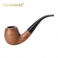 MUXIANG  10 Tools Kit Imported  kevazingo wood  Bent Wooden Tobacco Pipe for Smoking 9mm filter Good for Men