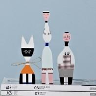 Модные Современные Абстрактные Деревянные куклы, окрашенные Семейные поделки, украшения, детский подарок, детские игрушки, домашнее декора... - Фигурки для декора в сканди-стиле