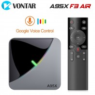 1828.27руб. 33% СКИДКА|VONTAR A95X F3 Air 8K RGB светильник ТВ приставка Android 9,0 Amlogic S905X3 4 Гб 64 Гб двойной Wifi 4K 60fps Netflix Youtube Smart tv A95X Air on AliExpress