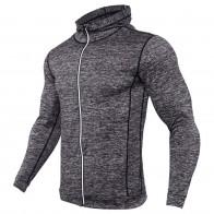 803.29 руб. 38% СКИДКА|Тонкая мужская куртка для бега с капюшоном, на молнии, для фитнеса, для бодибилдинга, для спортзала, одежда с капюшоном, плотно облегающие куртки с капюшоном для тренировок-in Беговые куртки from Спорт и развлечения on Aliexpress.com | Alibaba Group