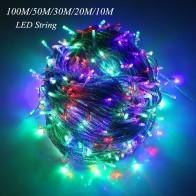 172.25 руб. 53% СКИДКА|10 м/20 м возможностью погружения на глубину до 30 м 50 м 100 м светодиодный гирлянд для патио рождественское свадебное украшение AC220V водонепроницаемый уличный фонарь гирлянда-in Гирлянды светодиодные from Лампы и освещение on Aliexpress.com | Alibaba Group