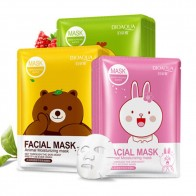 US $0.5 50% OFF|BIOAQUA 1PC Cartoon Animal Moisturizing Face Facial Mask Fresh Anti Acne Plant Extract Oil Control Hydrating Sheet Face Mask-in Treatments & Masks from Beauty & Health on AliExpress - 11.11_Double 11_Singles