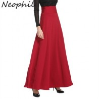 Neophil-длинная юбка макси с высокой талией, длина до пола, для женщин, для зимы, 2020 5XL, MS1809, размера плюс - Юбки