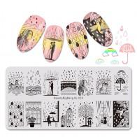 130.13 руб. 40% СКИДКА|BeautyBigBang 6*12 см пластины для стемпинга для лак для ногтей дождь Lover романтический образ узорами, дизайн ногтей шаблон пластины для ногтей-in Шаблоны для дизайна ногтей from Красота и здоровье on Aliexpress.com | Alibaba Group