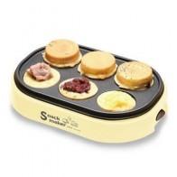 220 В Электрический гамбургер, красная фасоль, торт, пирог, машина, антипригарные яйца, жареные Блинные Сковородки для завтрака, ЕС/Австралия/... - Яичница