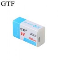 GTF USB батарея 9 в 1000 мАч/500 мАч литий-полимерная аккумуляторная батарея USB литиевая батарея для игрушек пульт дистанционного управления Пряма...