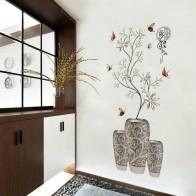 323.03 руб. 25% СКИДКА|Ваза для бонсай наклейки на стену материал в горошек цветок искусство настенные наклейки гостиная спальня кабинет украшение стены стикер-in Настенные наклейки from Дом и сад on Aliexpress.com | Alibaba Group