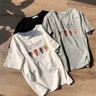 849.43 руб. 30% СКИДКА|Queendom письмо печатающей головки для женщин футболка серый, белый, черный цвет хлопок женские футболки топы корректирующие-in Футболки from Женская одежда on Aliexpress.com | Alibaba Group