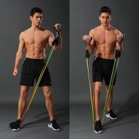 11 pièces/ensemble Latex bandes de résistance Crossfit entraînement corps exercice Yoga Tubes tirer corde poitrine extenseur Pilates Fitness avec sac