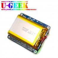 € 20.66 |UGEEK UPS HAT avec batterie pour Pi 3 modèle B/3B +/3A +/2B/Raspberry 4 | adaptateur de batterie Pi | Source d