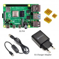US $60.97 14% OFF|Raspberry Pi 4 Model B kit Basic Starter Kit in stock with power switch line type c interface EU/US Charger Adapter and heatsink-in Demo Board from Computer & Office on AliExpress