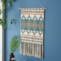 €8.82 30% de DESCUENTO|Borla Bohemia macramé tejido colgante de pared hecho a mano tejido tapiz de decoración de pared de oficina en casa tapiz colgante de pared-in Tapicería from Hogar y Mascotas on AliExpress - 11.11_Double 11_Singles' Day - Macrame Boho decor