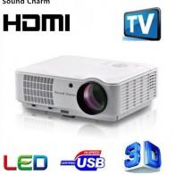9322.98 руб. 64% СКИДКА|Звуковой Шарм светодио дный HD LED tv Android проектор HDMI 3D проектор для домашнего кинотеатра купить на AliExpress