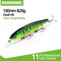 Bearking 2018 Tungsten ball fishing lures minnow,quality professional baits 13cm/25g hot model crankbaits penceil bait popper - Силиконовые приманки