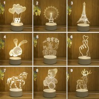 3D LED Lamp Creative USB Night Lights Novelty Illusion Night Lamp 3D Illusion Table Lamp For Home Decorative Light