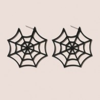 Halloween Cobweb Design Stud Earrings - Accessories