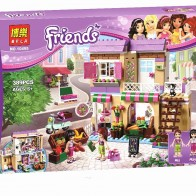 Новый Бела друг серии город еда рынок Строительные блоки Друзья конструктор подарок игрушки совместимы с Legoingly друзей 41108 купить на AliExpress
