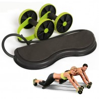 US $22.9 26% OFF|2 Wheels Roller with Knee Plate Pad Stretch Elastic Abdominal Resistance Pull Rope Tool Sports Abdominal Muscle Trainer Exercise-in Ab Rollers from Sports & Entertainment on Aliexpress.com | Alibaba Group