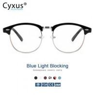 Cyxus анти-синий светильник, компьютерные очки, полуоправа, Browline оправа для защиты от усталости глаз, УФ-очки для мужчин и женщин 8056 - Алик для парней