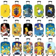 Защитный чехол для багажа, эластичный чехол для 18-32 дюймов, защитный чехол, чехол s, чехлы Xl, аксессуары для путешествий, Симпсоны 1