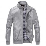 1092.42 руб. 41% СКИДКА|2018 новая куртка мужская осень сплошной цвет Повседневное M 5XL 6XL верхняя одежда мандарин одежда с воротником-in Куртки from Мужская одежда on Aliexpress.com | Alibaba Group