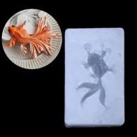 Подвеска в виде золотой рыбки Жидкая силиконовая форма DIY Создание украшений из каучука ремесленных инструментов - Форма для эпоксидной смолы
