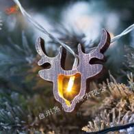 476.38 руб. 20% СКИДКА|Новый год декоративные Рождество Ретро Олень 10 светодиодный Теплые строки деревянный оленей лось Санта лампы Батарея работает Tree House купить на AliExpress
